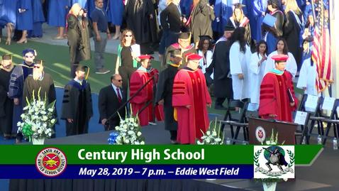 Thumbnail for entry Century High School 2019 Graduation May 28, 2019 part 1
