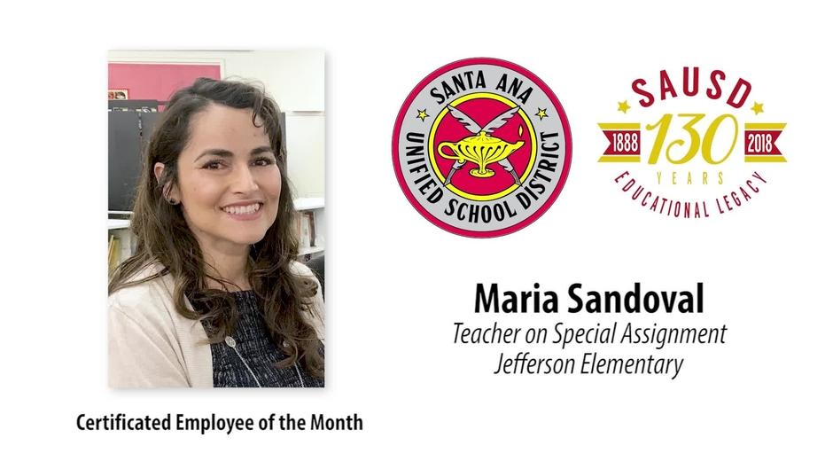 Maria Sandoval Tosa At Jefferson Elementary School Sausd