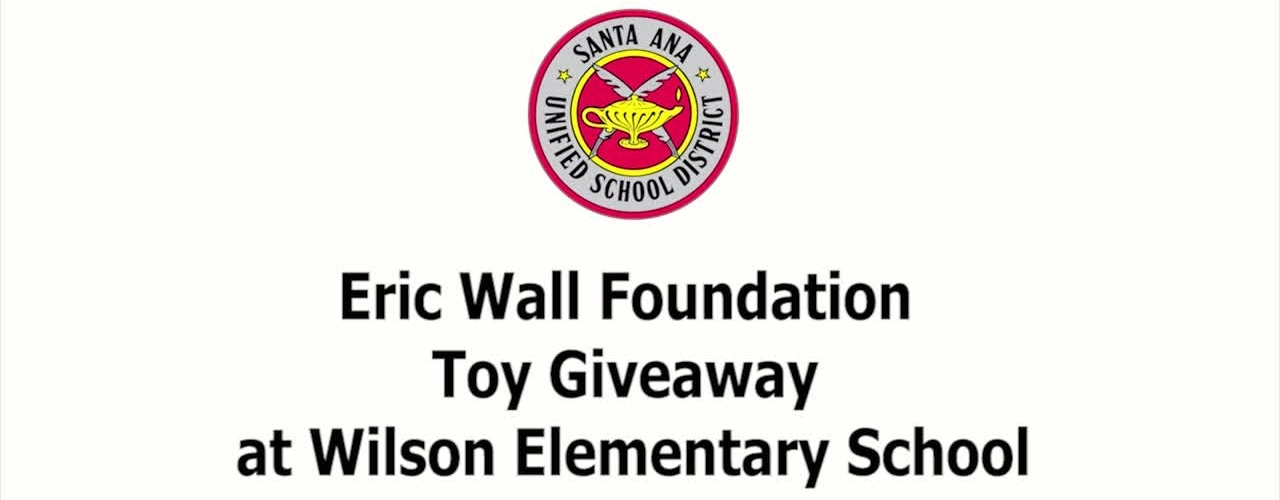 Eric Wall Foundation Toy Giveaway at Wilson Elementary School 2018