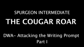 Thumbnail for entry The Cougar Roar Attacking the Writing Prompt