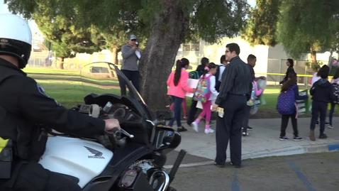 Thumbnail for entry Walk to School Day Fremont Elementary School 2017