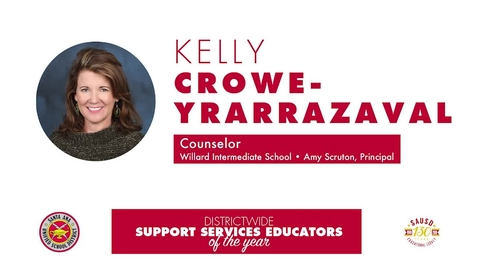 Intermediate Support Services Educator of the Year 2018 Kelly Crowe-Yrarrazaval, SAUSD