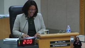 Thumbnail for entry Superintendent Dr. Stefanie Phillips Report to SAUSD Board Meeting 01_23_18