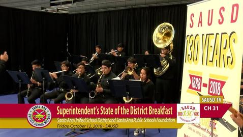 Thumbnail for entry SAUSD Partnership Breakfast & Superintendent's State of the District October 12, 2018