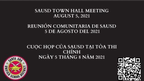 Thumbnail for entry Superintendents Town Hall SAHS