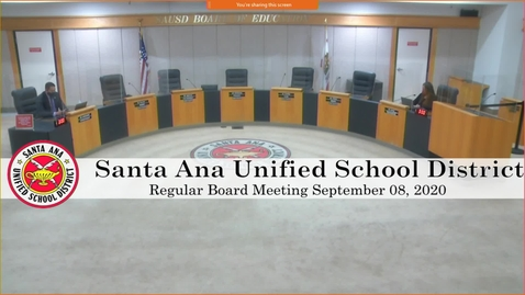 Thumbnail for entry Board Meeting  September 08, 2020
