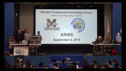 Thumbnail for entry ARISS Amateur Radio on the International Space Station Mendez Fundamental Intermediate September 6, 2018