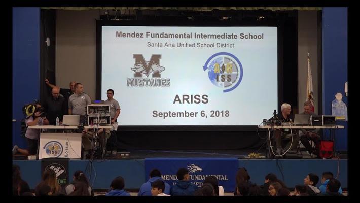 ARISS Amateur Radio on the International Space Station Mendez Fundamental Intermediate September 6, 2018