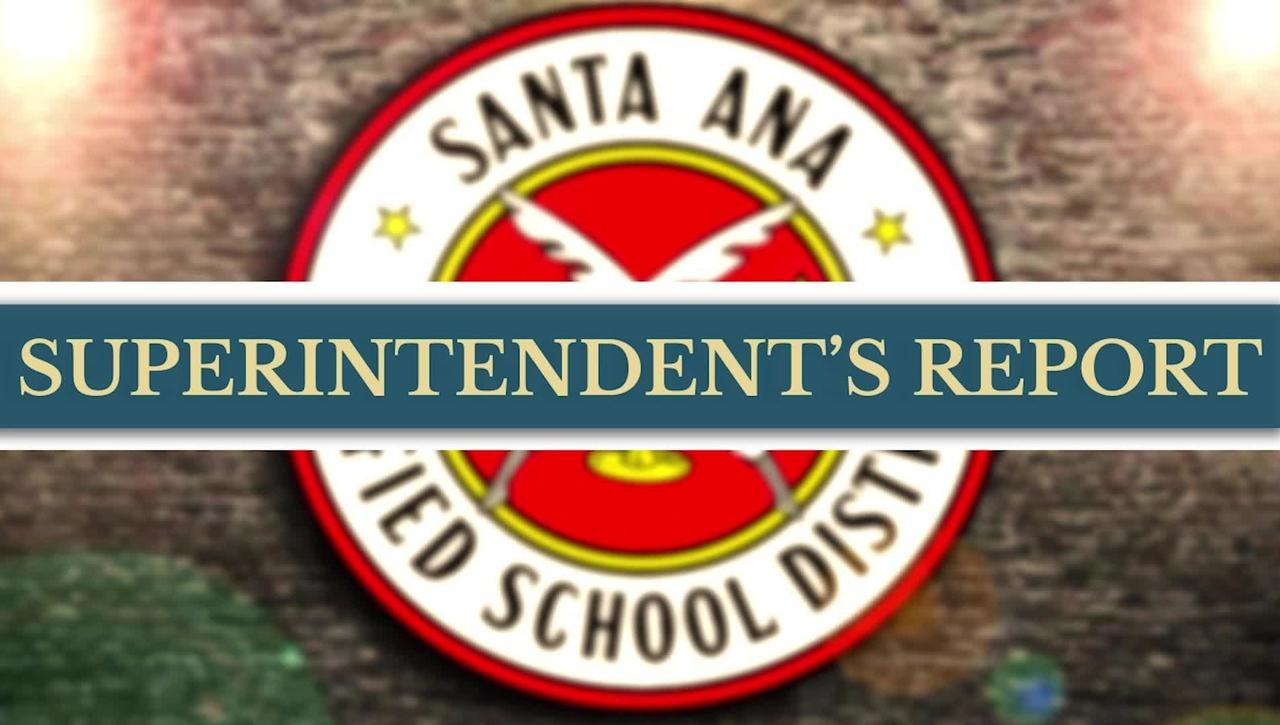 Superintendents Report September 28, 2021