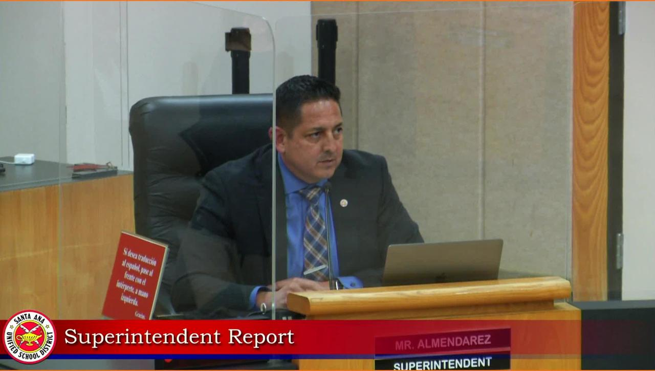 Superintendent Remarks October 13, 2020