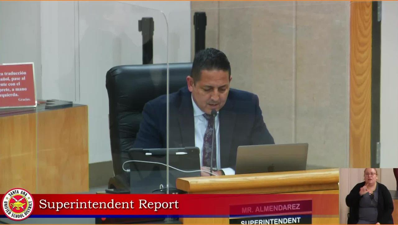 Superintendent Report  October 27, 2020