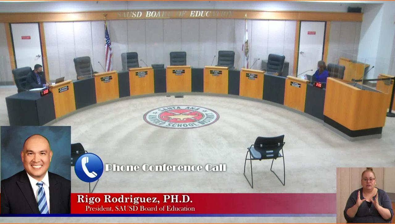 SAUSD Regular Board Meeting October 13, 2020
