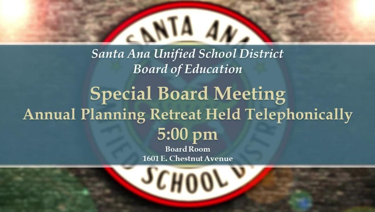 Special Board Meeting April 13, 2021