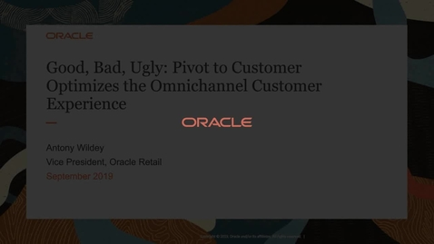 [Webcast] Good, Bad, Ugly: Pivot to Customer Optimizes The Omnichannel CX