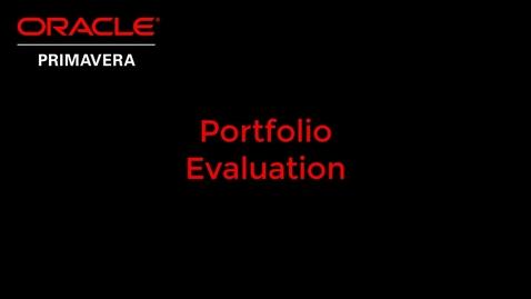 Thumbnail for entry Portfolio Evaluation