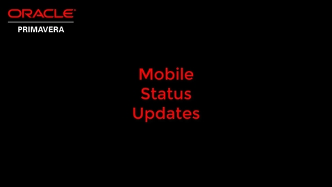 Thumbnail for entry Mobile Status Updates