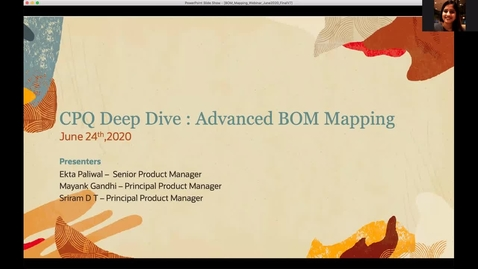 Thumbnail for entry CPQ Deep Dive: Advanced BOM Mapping