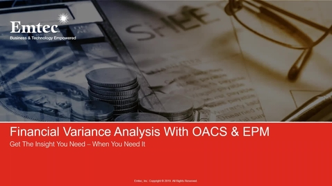 Thumbnail for entry Emtec Financial Variance