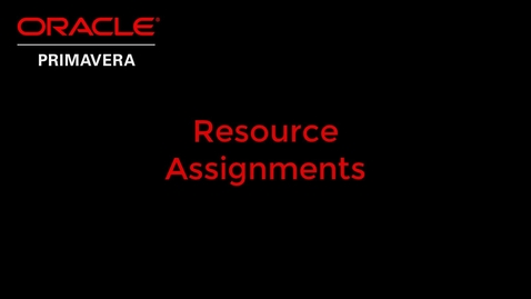 Thumbnail for entry Resource Assignments