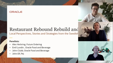 Thumbnail for entry Restaurant Rebound Rebuild and Reimagine: Local Perspectives, Stories and Strategies from the Swedish Restaurant Industry