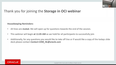 "Cloud Digital Classroom - Recorded Session ""Oracle Cloud Storage & Archive"""