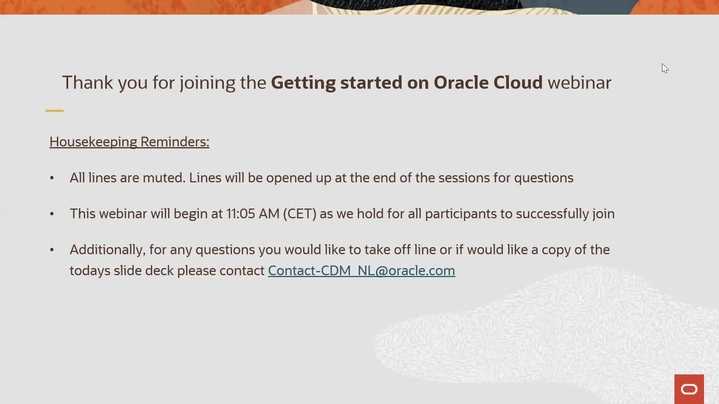 Thumbnail for channel Cloud Digital Classrooms - Getting Started with Oracle Cloud