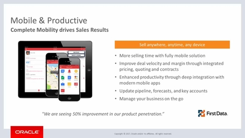 Thumbnail for entry Get Going with Oracle Sales Cloud - Mobile Sales