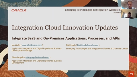Thumbnail for entry Oracle Integration Cloud Innovation Updates