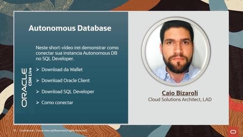 Thumbnail for entry ShortVideo - Acesso ao ADB via SQL Developer