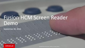 Thumbnail for entry Fusion HCM Screen Reader Accessibility Demo