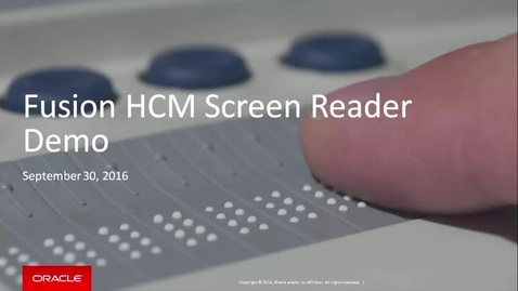 Fusion HCM Screen Reader Accessibility Demo