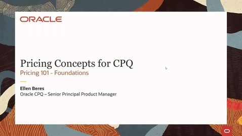 Thumbnail for entry CPQ Deep Dive : Pricing Concepts 101