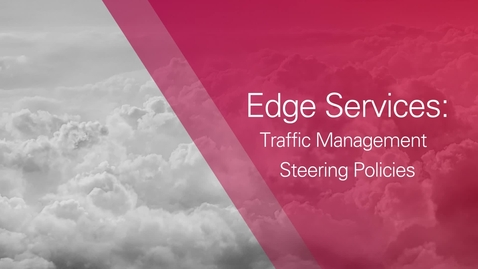Edge Services: Traffic Management Steering Policies