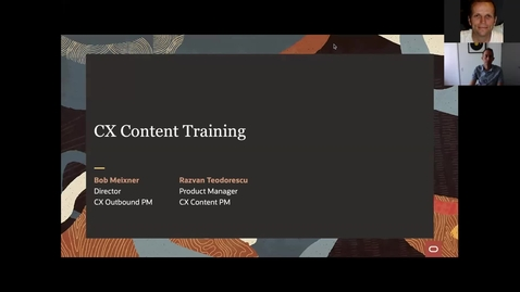 Thumbnail for entry Oracle CX Content Training for Commerce Partners