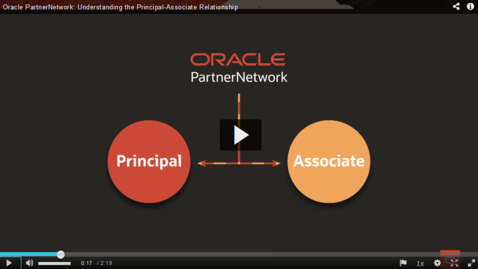 Thumbnail for entry Oracle PartnerNetwork: Understanding the Principal-Associate Relationship