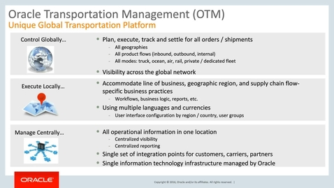Thumbnail for entry Get Ahead with Oracle Cloud ERP - Transportation Management