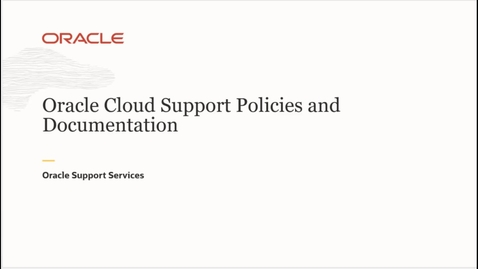 Thumbnail for entry Cloud Support Policies