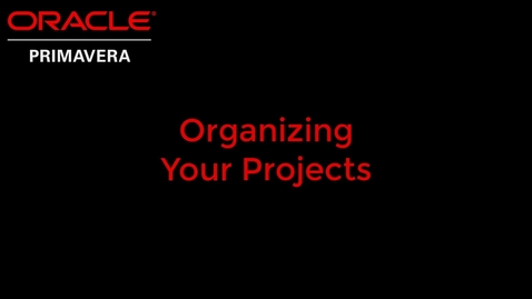 Thumbnail for entry Organizing Your Projects