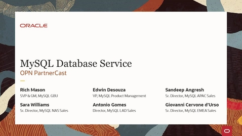 Thumbnail for entry MySQL Database Service: OPN PartnerCast
