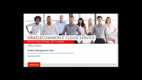 Office Hours November 2017 - The October 2017 Commerce Cloud Release Update