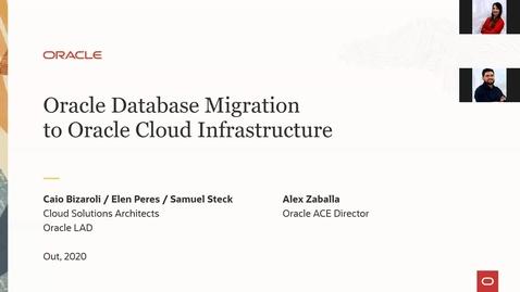 Thumbnail for entry CSM Webinar - Migração de Banco de Dados Oracle para OCI