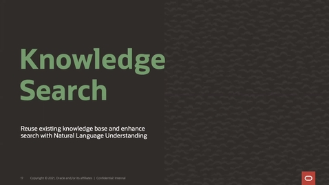 Thumbnail for entry Knowledge Search Skill from the CXS Service Template