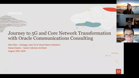 Thumbnail for entry Oracle Communications Consulting - Journey to 5G Webinar