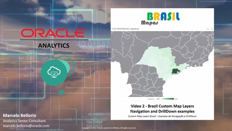 Oracle Analytics - Mapas Brasil - Video 2 - Navegação e DrillDowns