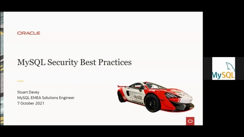 Thumbnail for entry Security in MySQL