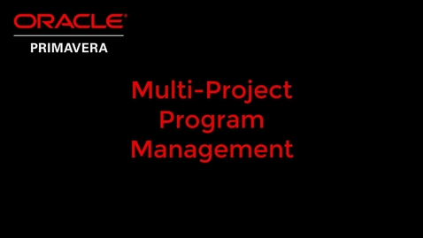 Thumbnail for entry Multi-Project Program Management