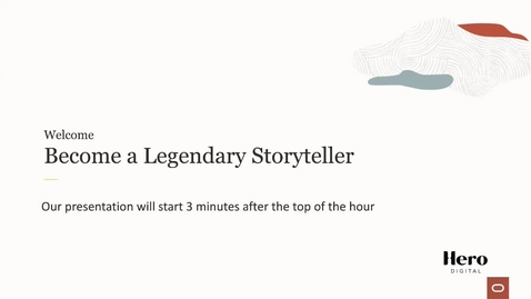 Thumbnail for entry Partner Webcast:  Become a Legendary Storyteller with CX Content.