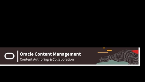 Thumbnail for entry OCM - Structured Content - Authoring & Collaboration