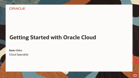 Thumbnail for entry Getting Started with Oracle Cloud June 8th 2021