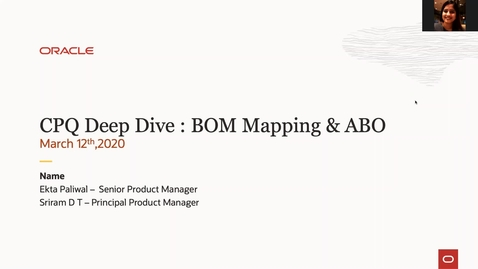 Thumbnail for entry CPQ Deep Dive : BOM Mapping